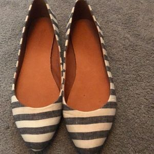 Madewell stripped flats size 9.5